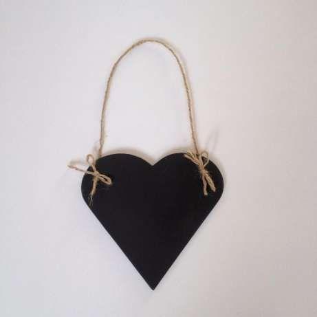 Chalkboard  shaped heart hanging by KaroLovewdzianka on Etsy