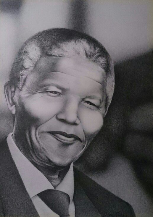 Nelson Mandela pencil drawing