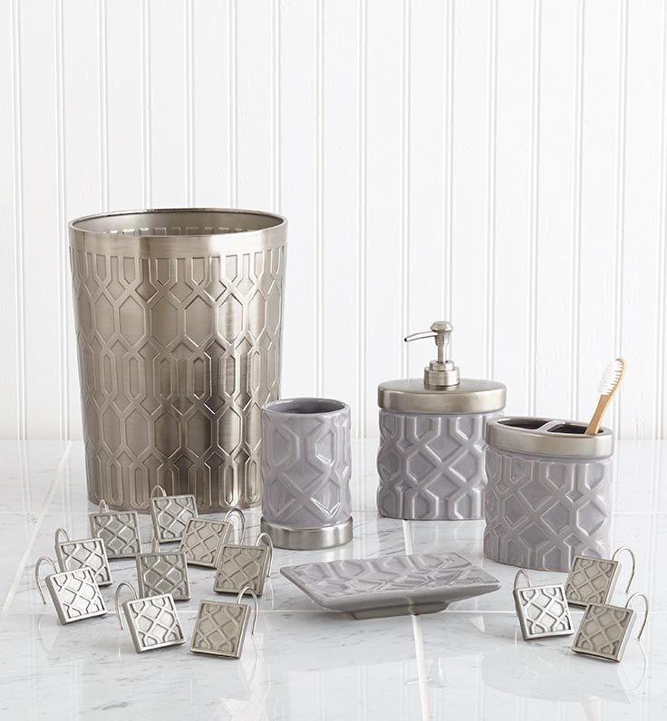 crystal bathroom accessories sets%0A Coordinated Bath Accessories