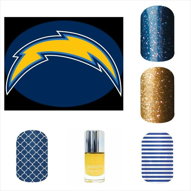 Chargers Football Manicure Ideas It S Time To Bolt Up