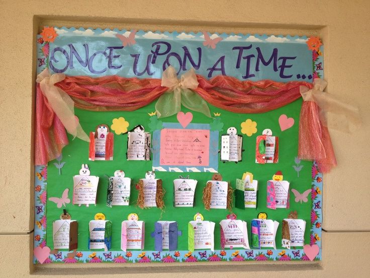 Once Upon A Time Fractured Fairy Tale Bulletin Board Tales