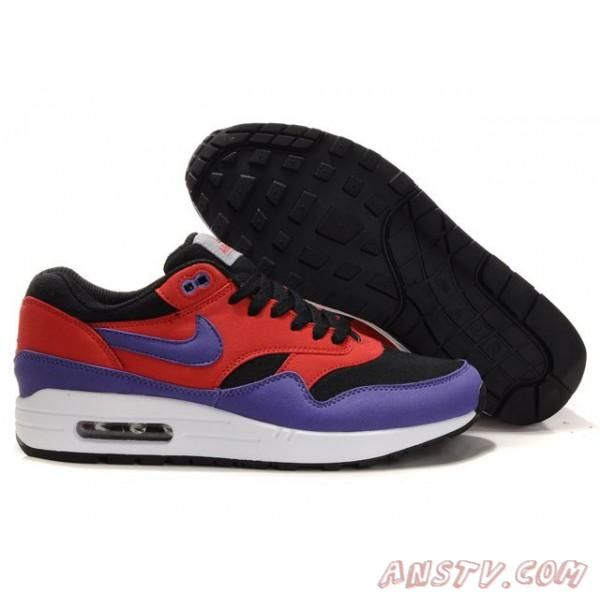 chaussures air max femme nike air max 87 noir rouge violet couple
