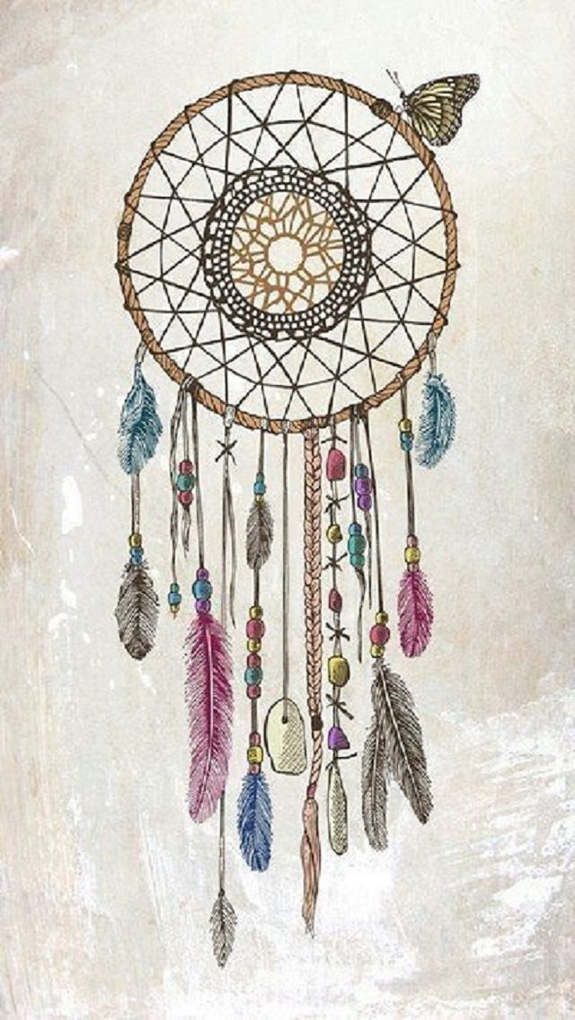 Dreamcatcher Illustration iPhone Wallpaper