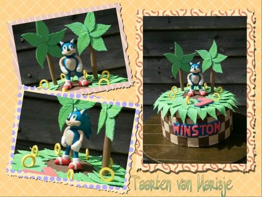 Sonic taart, sonic cake