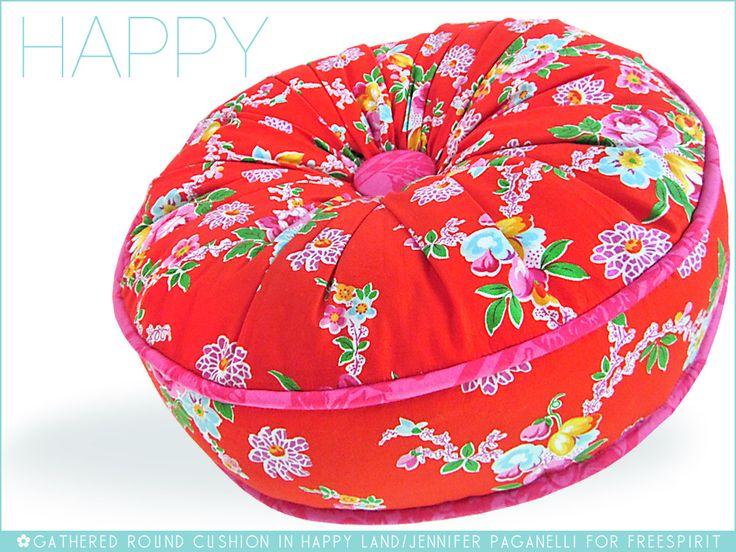 FreeSpirit-Rowan 10&10 Series: Gathered Round Cushion in Jennifer Paganelli/Happy Land | Sew4Home