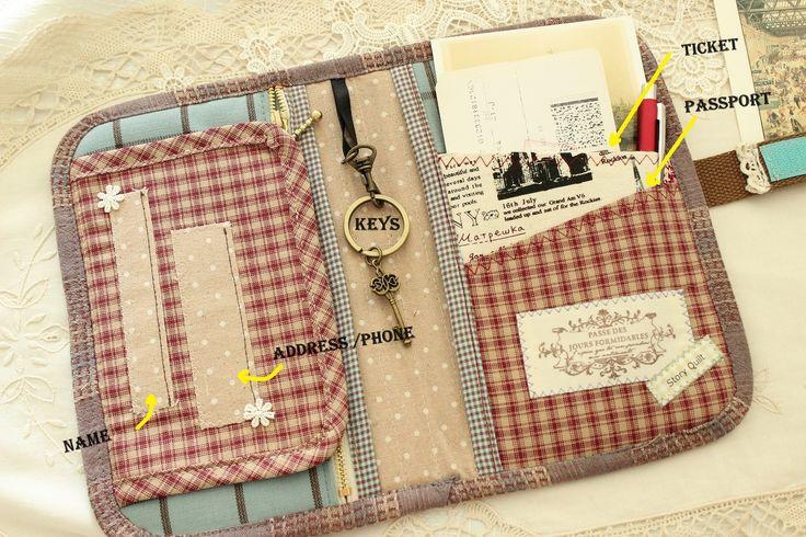 Book Cover Purse Tutorial : Vintage story book like travel organizer purse