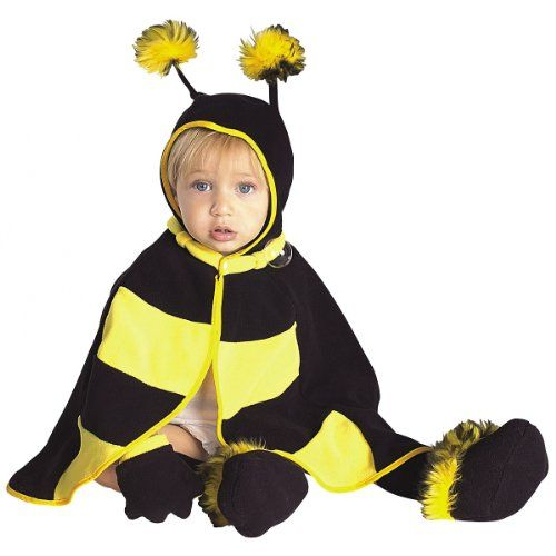 Lil Bee Caped Cutie Costume $10.28 only on Amazon! #Halloween #costumes #Amazon. Lil Bee Caped Cutie Costume - Infant. Lil Bee costume includes hooded cape with fuzzy antennae, mittens, and booties with non-skid soles. This baby Lil Bee Caped Cutie comes in size Infant. Please note: This item's color may vary due to inherent manufacturing variations or your computer monitor's color settings. The item you receive will be identical or substantially similar to the item pictured in this listing.
