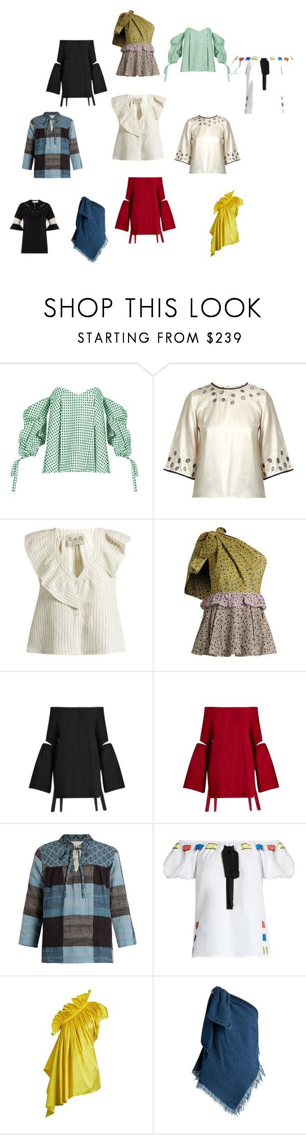 """""""tipsy Topsy"""" by ramakumari on Polyvore featuring Caroline Constas, Jupe By Jackie, Sea, New York, Anna October, E L L E R Y, ace & jig, Marques'Almeida, Toga and vintage"""