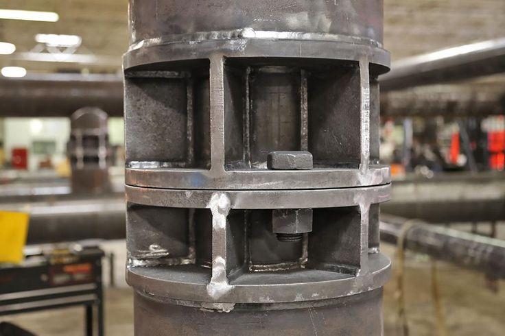 Conexión pilar metálico tubular