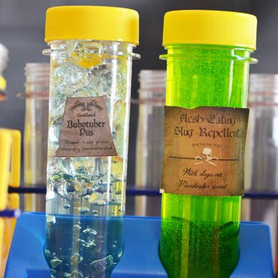 Make all kinds of potions, slime, bubotuber pus and more for a Harry Potter party or anytime