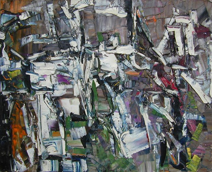 """JEAN-PAUL RIOPELLE """"Compostion"""" 1957"""