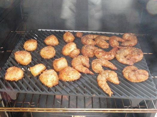 Smoked Shrimp and Scallops with Sweet Garlic Rub