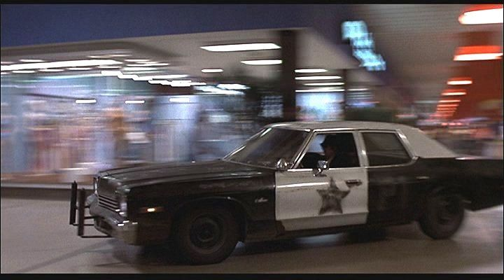 It's got a cop motor, a 440 cubic inch plant, it's got cop tires, cop suspensions, cop shocks. It's a model made before catalytic converters so it'll run good on regular gas. What do you say, is it the new Bluesmobile or what?