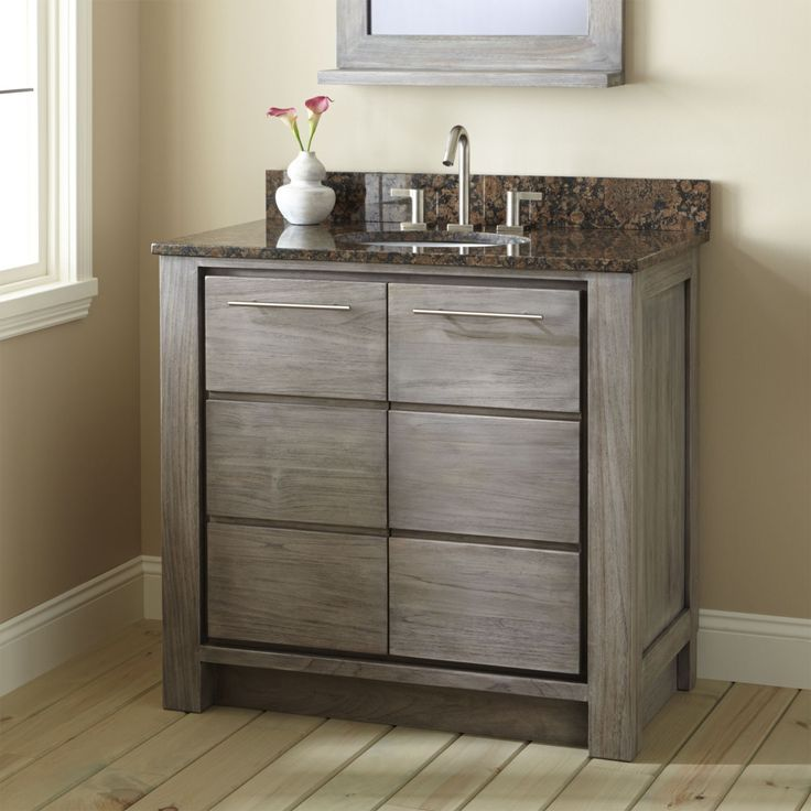 Image Result For Grey Bathroom Vanity