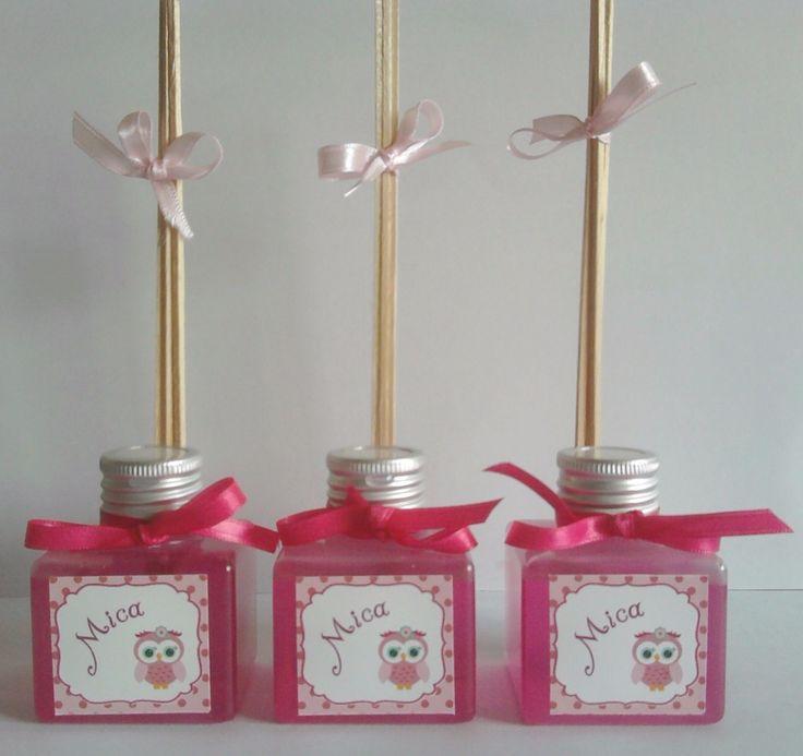 souvenirs mini difusores cumpleaños comunión bautismo shower