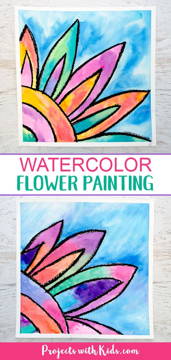 How To Make A Beautiful Watercolor Flower Painting Kids