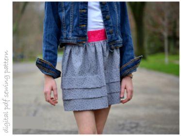 Magnolia Skirt - Sizes 2 to 10 | Craftsy | digital pdf sewing pattern