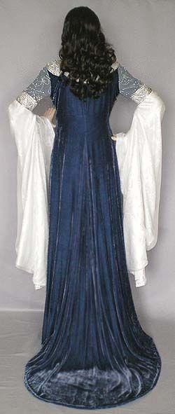 Requiem de vestido de seda terciopelo