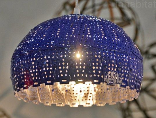 Nadia Belalia Unveils Colorful New Lamps Made From #Repurposed Colanders #Upcycling