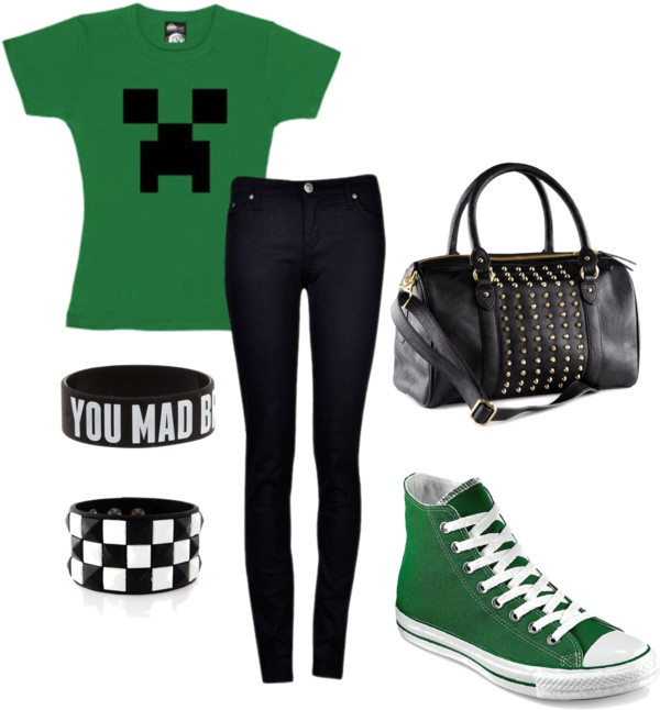 """""""Minecraft Newb"""" by i-create-the-trends on Polyvore"""