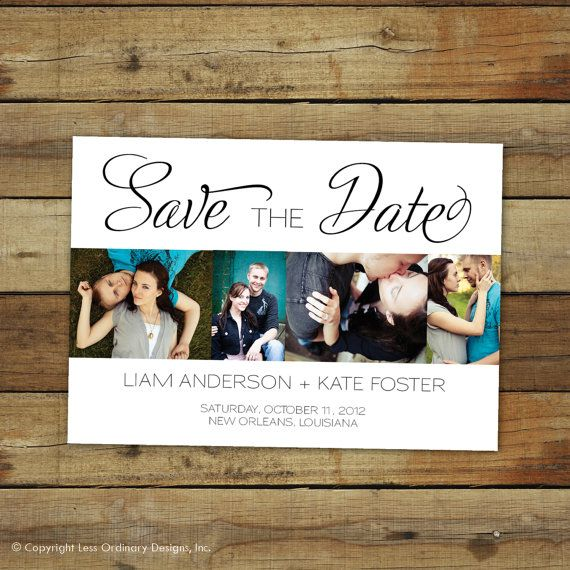 photo save the date card  sofia by saralukecreative on Etsy, $15.00