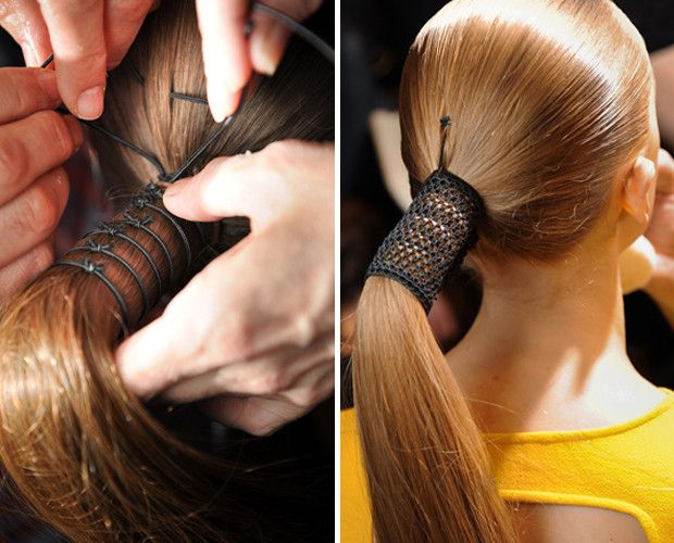 Spring Fashion Week Beauty Trends With Valentino And Donna - Ponytail cuff diy
