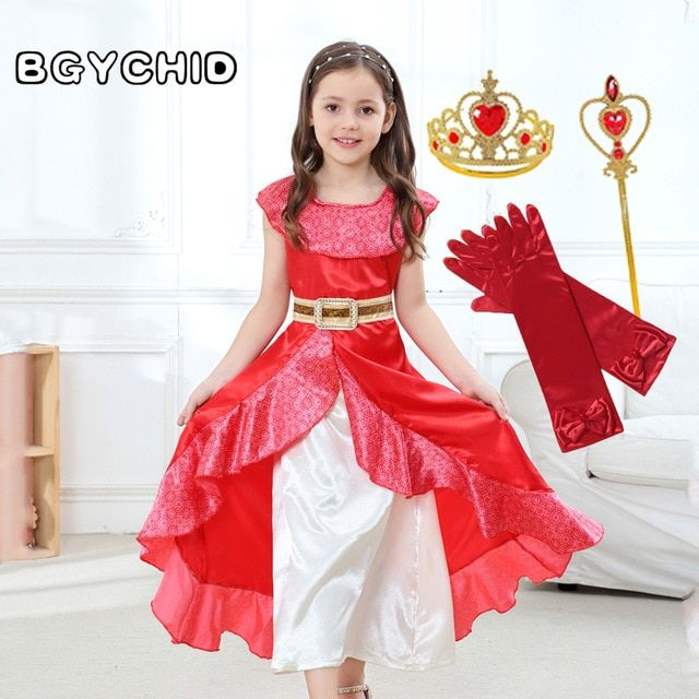 Girls Elena of Avalor Costume Kids Disney Princess Fancy Dress Fairytale License