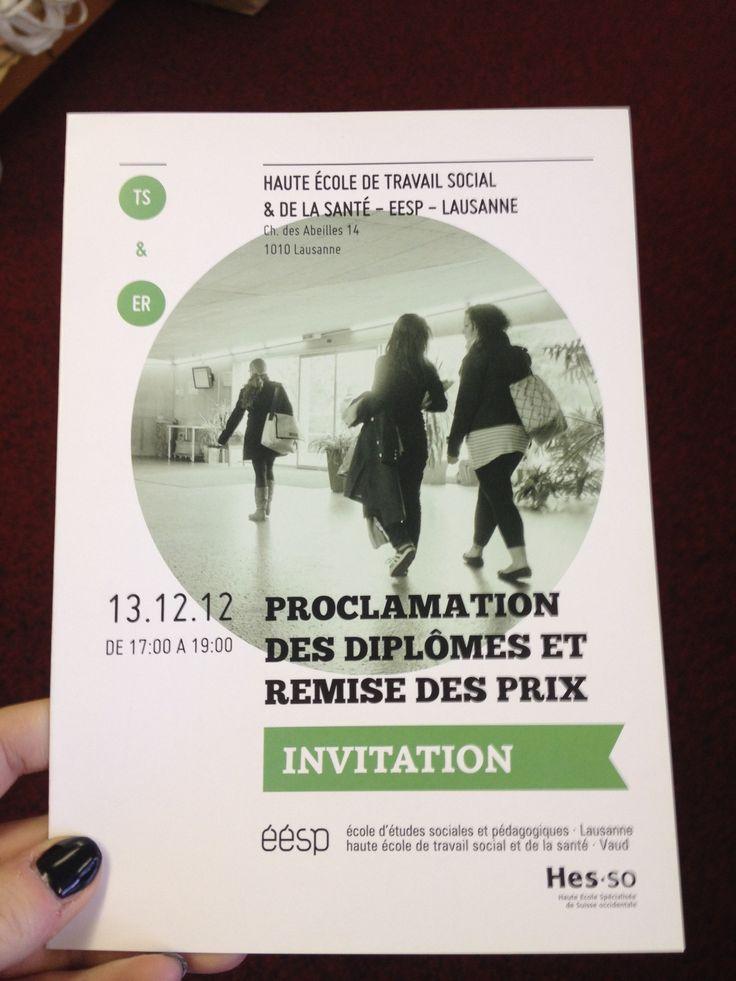 Dépliant pour la proclamation des diplômes et des prix 2012 | Format A5, couverture
