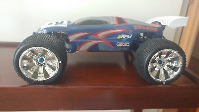 ﹩600.00. 1/10th Traxxas E-Revo Brushless    Compatible Scale - 1:10, Type - E-Revo, Compatible Fuel Type - Electric, Color - custom, Compatible Vehicle Type - Monster Truck,