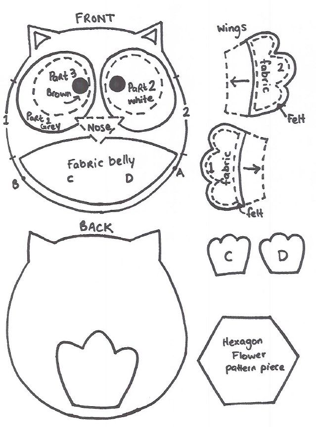 How to sew a Baby Felt Owl Pattern