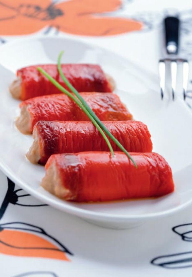 Rotolini di peperoni con salsa tonnata