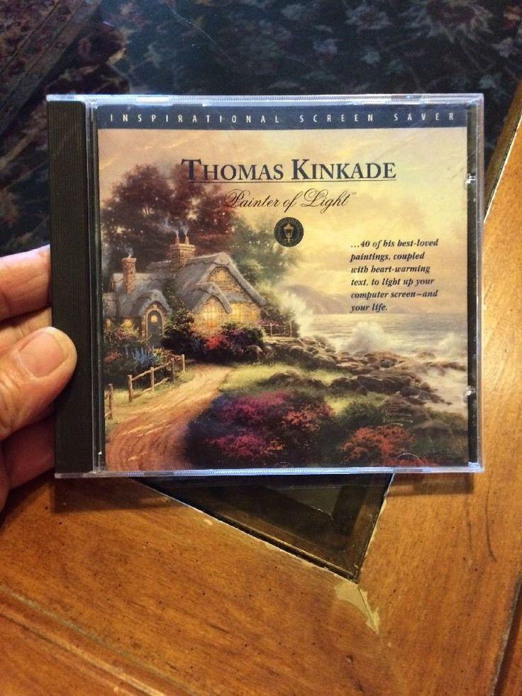 Thomas Kinkade Painter Of Light Inspirational Screen Saver PC CD-ROM Windows 95  | eBay