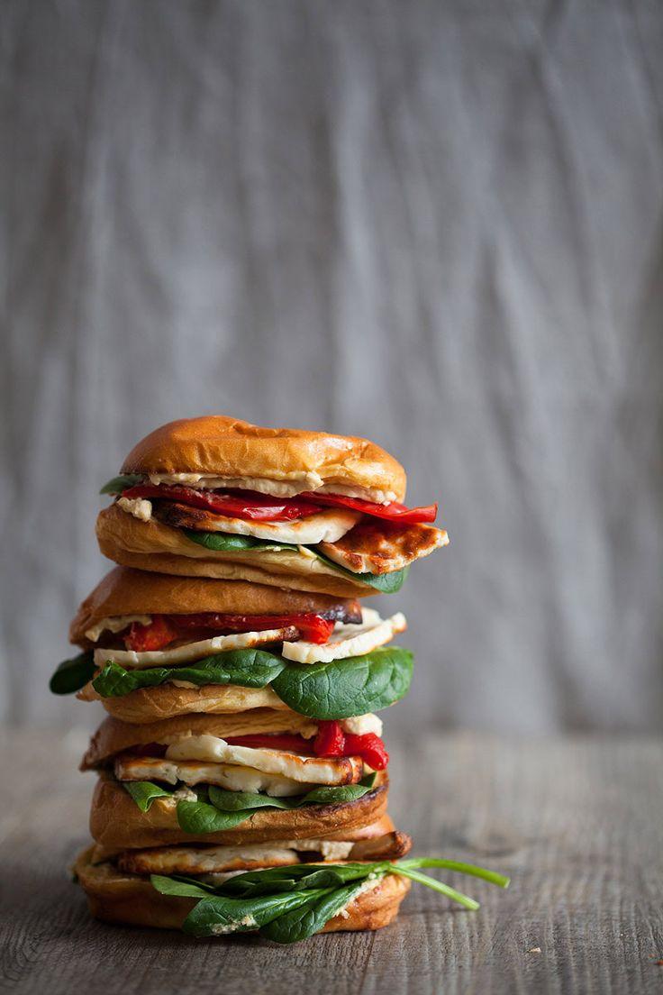 Halloumi & Hummous Brioche  Halloumi-Brioche_BorrowedLight.com vegetarian