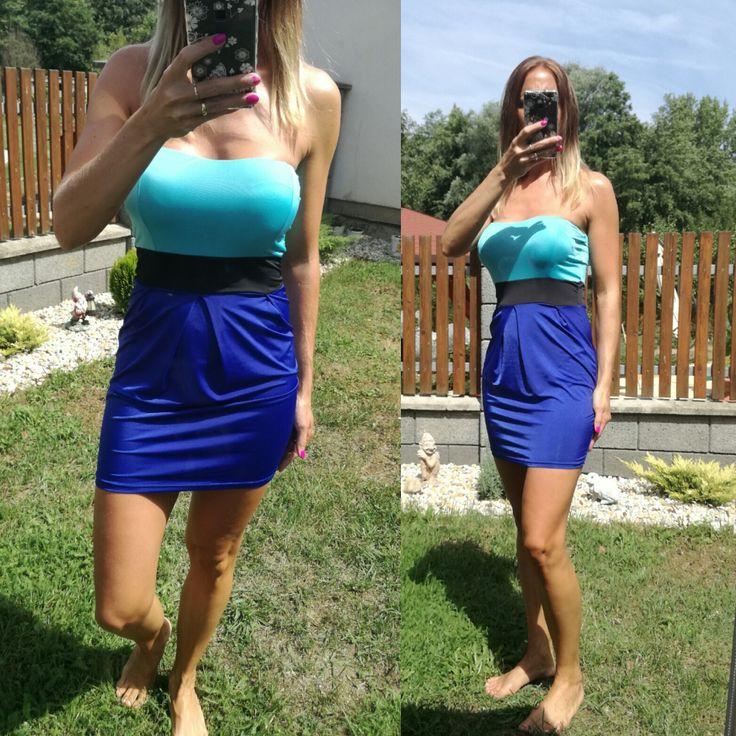 Dámské letní šaty modré