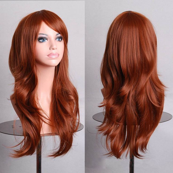 初音ミクかつら茶色の長いカーリー合成パーティーcosかつら70センチコスプレウィッグ髪パッドウィッグウィッグfemininas