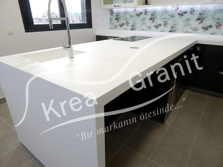 DuPont™ Corian® Mutfak ve Ada Tezgah  KREA GRANİT www.kreagranit.com.tr