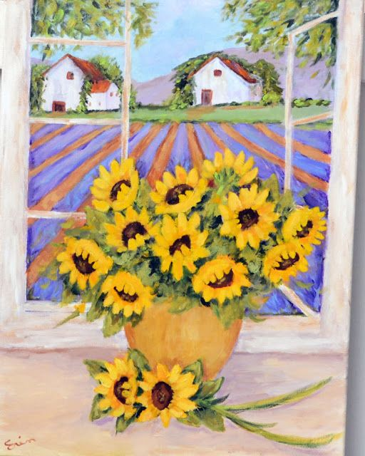 My Painted Garden: Lavender and Sunflower Inspirations
