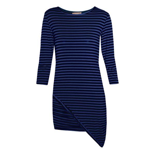 Μοντέρνο γυναικείο ελαστικό ριγέ φόρεμα ασύμμετρο.Δες το εδώ--> http://be-casual.gr/gynaika/foremata/forema-rige-asimetro.html