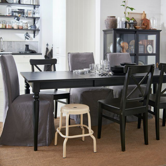tables ikea rallonges top ikea bjursta brje table and chairs extendable dining table with with. Black Bedroom Furniture Sets. Home Design Ideas