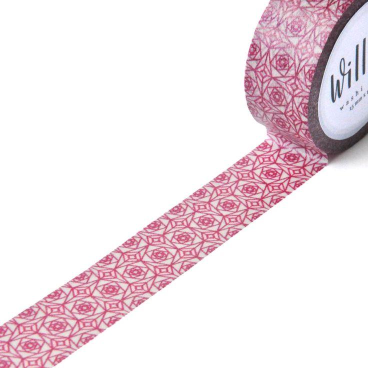 Square Roses Washi Tape | Design by Willwa