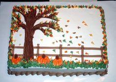 Herbst-Themen-Blechkuchen – Google-Suche   – Cake decorating