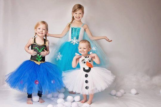 Elsa, Anna and Olaf! How adorable!!