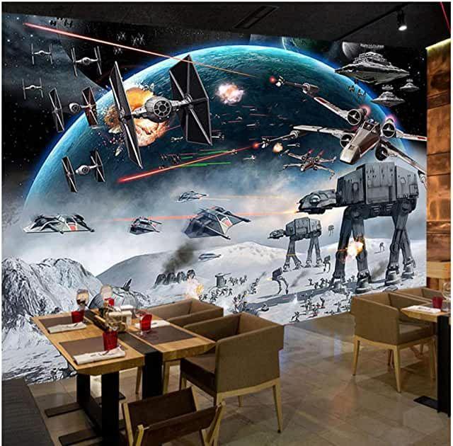 Amazon.com: wall mural star wars in 2020 | Star wars mural ...