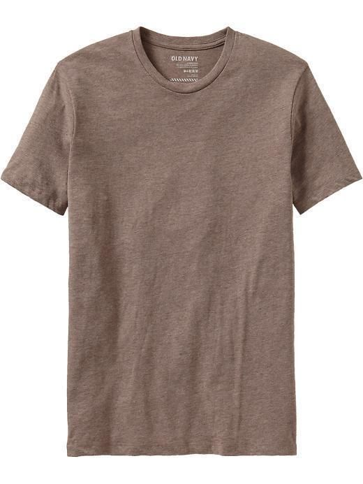 Old Navy Rib knit crew neck Pieced trim inside neck for added durability Soft, lightweight jersey blend Tag free for added comfort Redesigned for an improved fit Tee hits at hip More Details