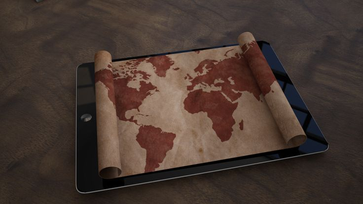 Cinema 4D -  world map render from ongoing animation film
