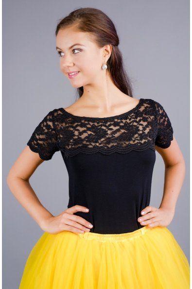 bambusové triko s krajkovým sedlem a rukávy  materiál: bambus s elastanem - česká výroba