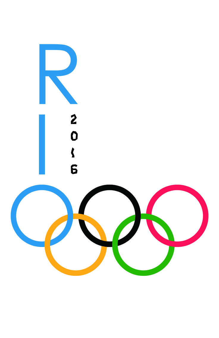 Olympic rings logo rio 2016 olympics logo designed by fred gelli - Rio 2016 Poster I Do Not Own Rights To Olympic Logo Type 2