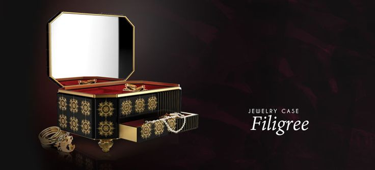 #bocadolobo #jewelry #luxury #safes  #privatecollection modern design furniture, contemporary furniture, design furniture, luxury furniture manufacturers, customized furniture, furniture store, living room furniture, signature furniture, interior design, limited edition  Filigree Jewelry Case