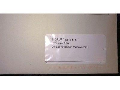 wydruk adresu w okienku koperty