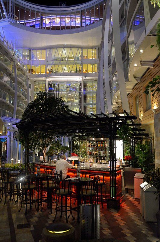 One of our favorite hangouts on the Allure of the Seas and the Oasis of the Seas is the Trellis Bar in Central Park!  Want to hear more???  www.diannehowcraftandassociates.com